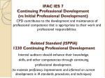 related standard isppia 1230 continuing professional development