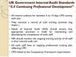 uk government internal audit standards 5 4 continuing professional development