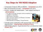 key steps for wa ngss adoption