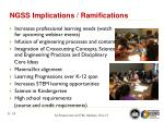 ngss implications ramifications