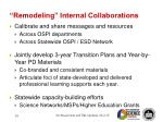remodeling internal collaborations
