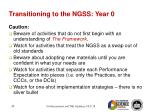 transitioning to the ngss year 0