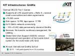kit infrastructures gridka