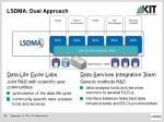 lsdma dual approach