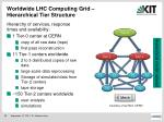 worldwide lhc computing grid hierarchical tier structure