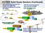 hti rer solid waste solution continued