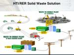 hti rer solid waste solution