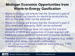 michigan economic opportunities from waste to energy gasification