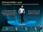 interoperability layer the foundation for interoperability between sap and sharepoint