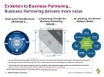 evolution to business partnering