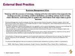 external best practice