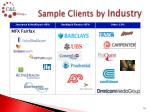 sample clients by industry