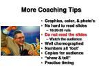 more coaching tips