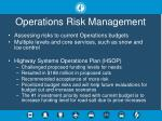 operations risk management