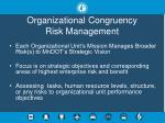 organizational congruency risk management