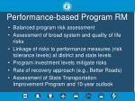 performance based program rm