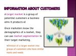 information about customers