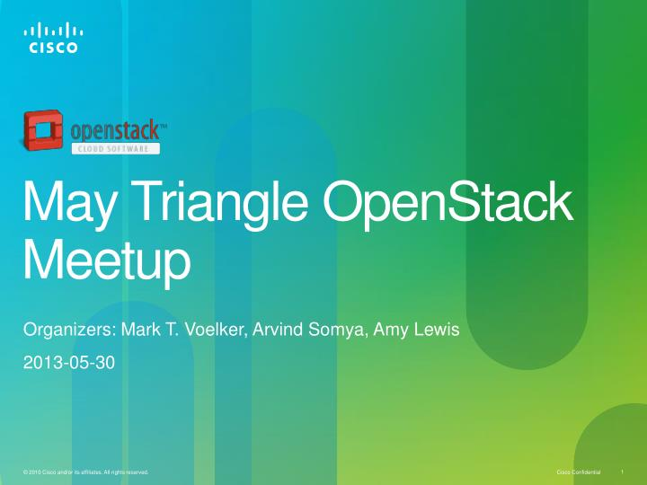 may triangle openstack meetup n.