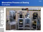 moonshine process at boeing examples
