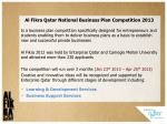 al fikra qatar national business plan competition 2013