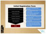 initial registration form
