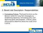3 board job description responsibilities