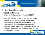 3 board job description