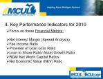 4 key performance indicators for 20104