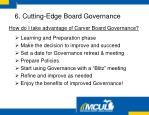 how do i take advantage of carver board governance