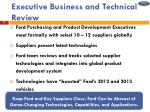 executive business and technical review