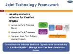joint technology framework