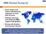 mbe global footprint