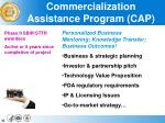 commercialization assistance program cap