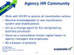 agency hr community