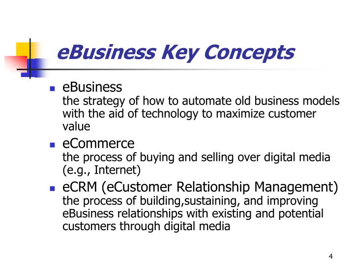 eBusiness Key Concepts
