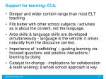 support for learning clil