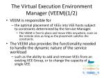 the virtual execution environment manager veem 1 2