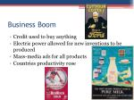 business boom