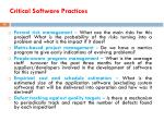 critical software practices