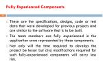 fully experienced components