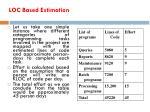 loc based estimation