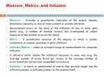 measure metrics and indicator