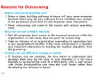 reasons for outsourcing1