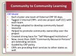 community to community learning