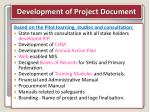 development of project document