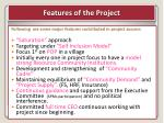 features of the project