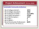 project achievement till oct 2010