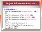 project achievement till oct 20103