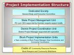 project implementation structure