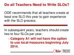 do all teachers need to write slos
